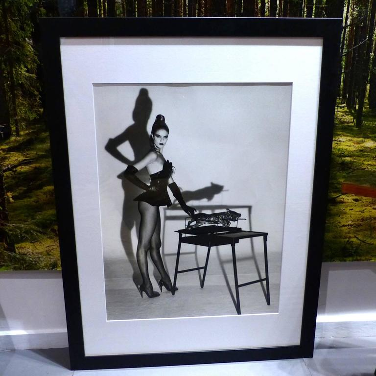 helmut newton framed poster bauwelt catalogue 1987 at 1stdibs. Black Bedroom Furniture Sets. Home Design Ideas