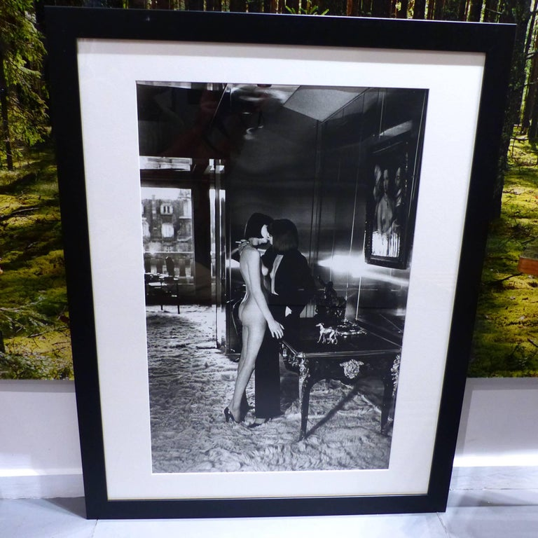 helmut newton framed poster mannequin quai d 39 orsay paris 1976 for sale at 1stdibs. Black Bedroom Furniture Sets. Home Design Ideas