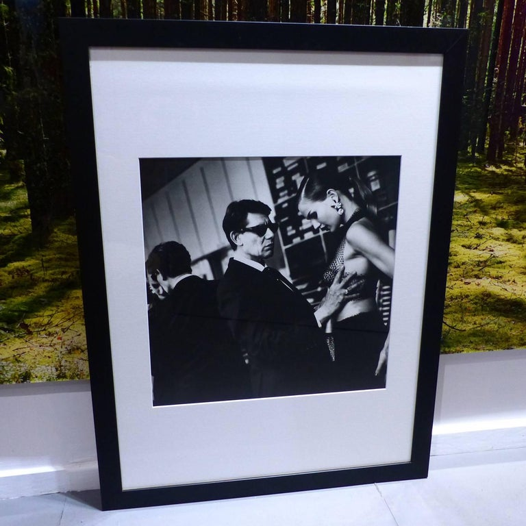 helmut newton framed poster yves saint laurent american vogue paris 1991 for sale at 1stdibs. Black Bedroom Furniture Sets. Home Design Ideas