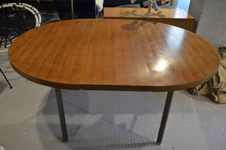 Beautiful extensible diner table circa 1960 for sale at for Dining table extensible