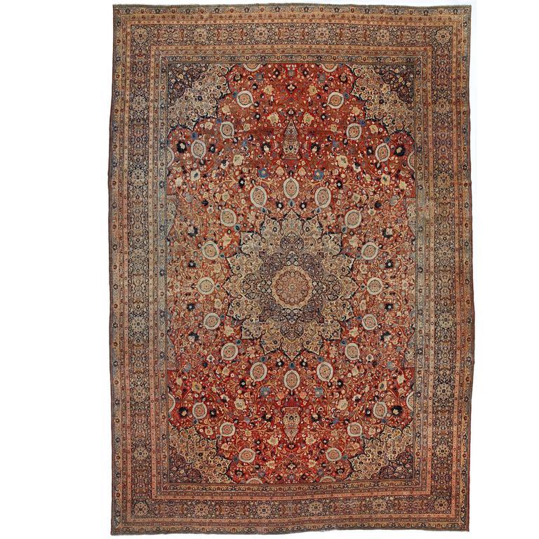 Antique Ardabil Tabriz Carpet Persia For Sale At 1stdibs