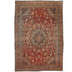 Antique 'Ardabil' Tabriz carpet, Persia
