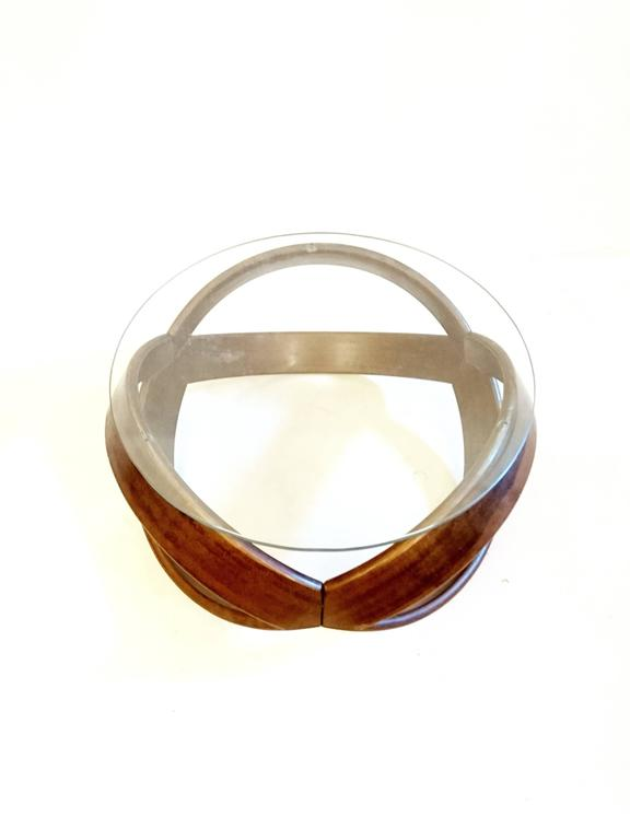 Elliptical Coffee Table In Beech 1970s At 1stdibs