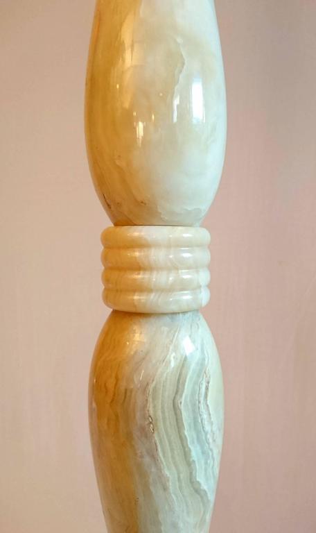 Italian Art Deco Onyx Floor Lamp In Excellent Condition For Sale In Albano Laziale, Rome/Lazio