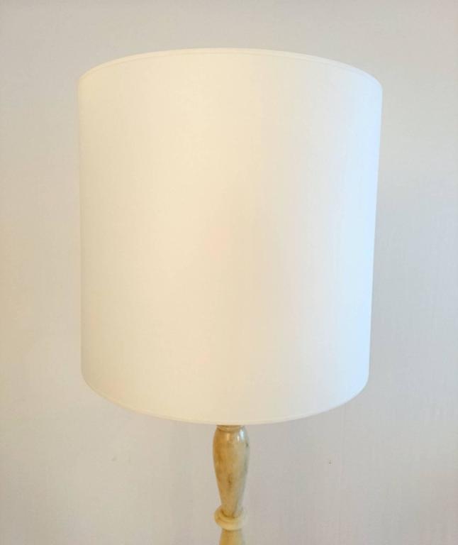 Italian Art Deco Onyx Floor Lamp For Sale 1