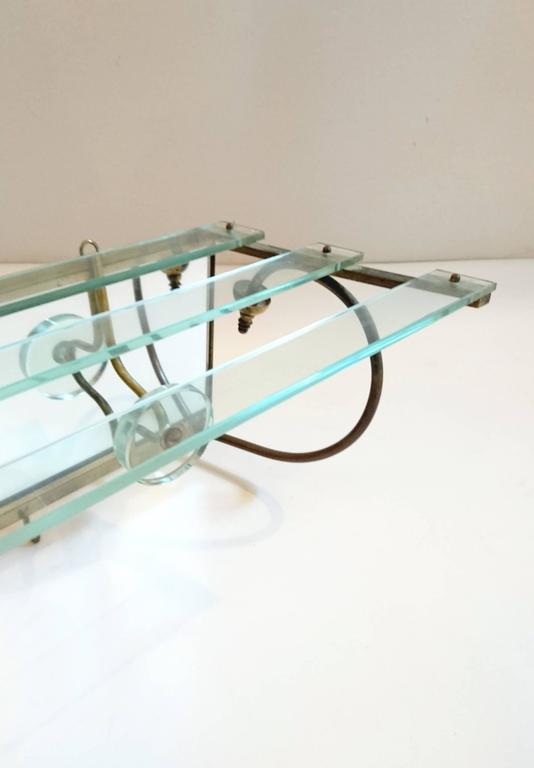 Coat Rack in the manner of Fontana Arte 1950´s In Excellent Condition For Sale In Albano Laziale, Rome/Lazio
