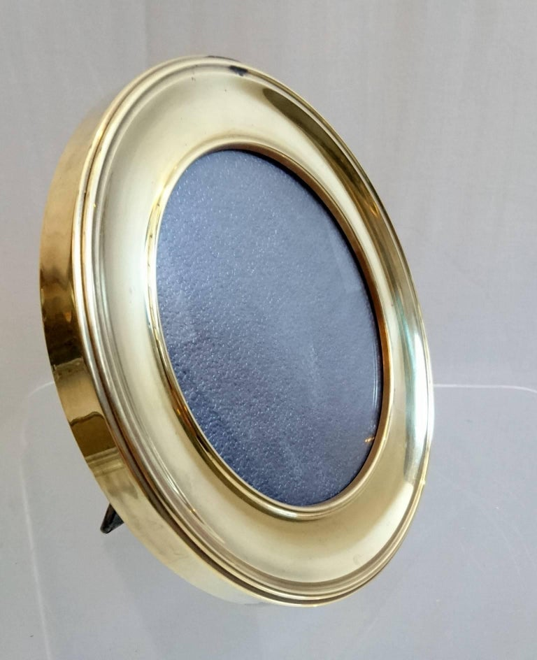 Round brass picture frame in for sale at stdibs