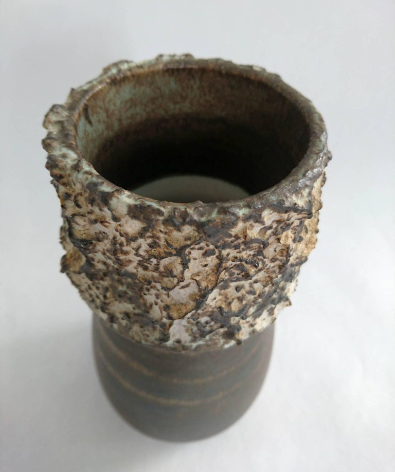 Brutalist Vase by Bruno Karlsson, Ego Stoneware, Sweden In Excellent Condition For Sale In Albano Laziale, Rome/Lazio