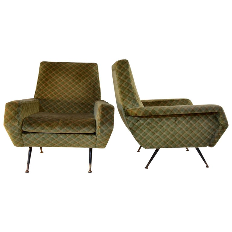 Midcentury Armchairs in the Manner of Marco Zanuso, Italy For Sale