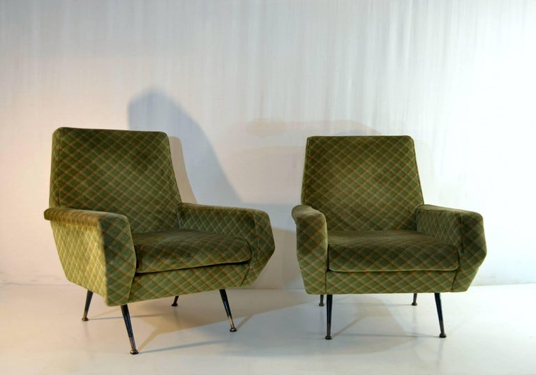 Mid-Century Modern Midcentury Armchairs in the Manner of Marco Zanuso, Italy For Sale