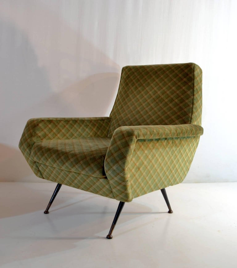 Italian Midcentury Armchairs in the Manner of Marco Zanuso, Italy For Sale