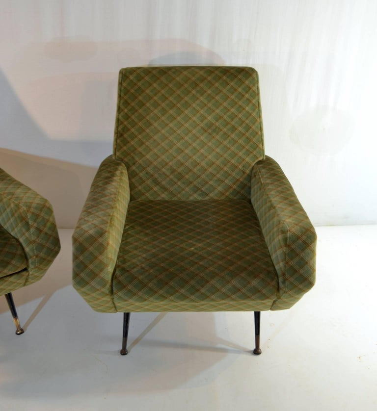 20th Century Midcentury Armchairs in the Manner of Marco Zanuso, Italy For Sale