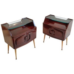 Midcentury Nightstands by Vittorio Dassi in Rosewood, Italy