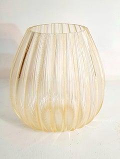 Large 24K Gold Murano Glass Vase