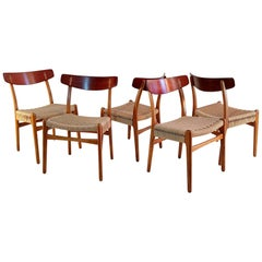Early Hans Wegner Ch23 Chairs