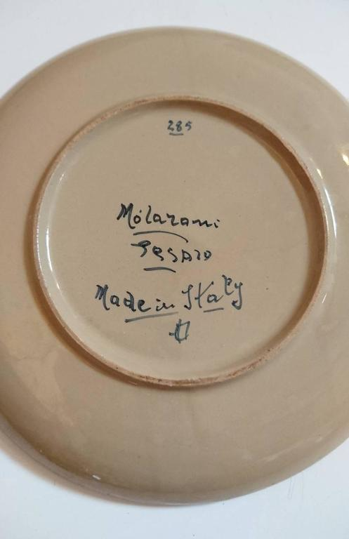 Ceramic Molaroni Pesaro Teapot and Cups Set, Italy, 1930s