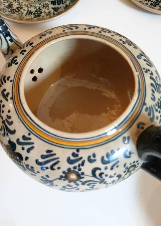 Molaroni Pesaro Teapot and Cups Set, Italy, 1930s 1