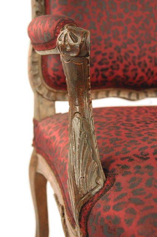 French Comfortable Armchair France, 18th Century, Oak For Sale