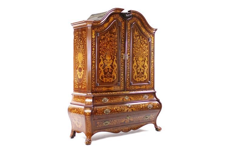 Unique baroque cupboard mahogany netherlands circa 1750 for Baroque 2 door accent cabinet
