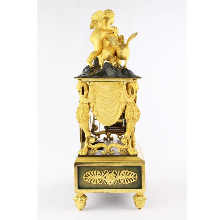 Beautiful Rare Pendule, France, Directoire, circa 1790-1800,
