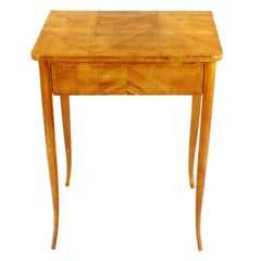 19th Century Side Table, Biedermeier Period, circa 1820-1830, Maple Veneered