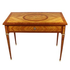 Nice Early 19th Century Writing Side Table, Empire, circa 1800-1810, Rosewood