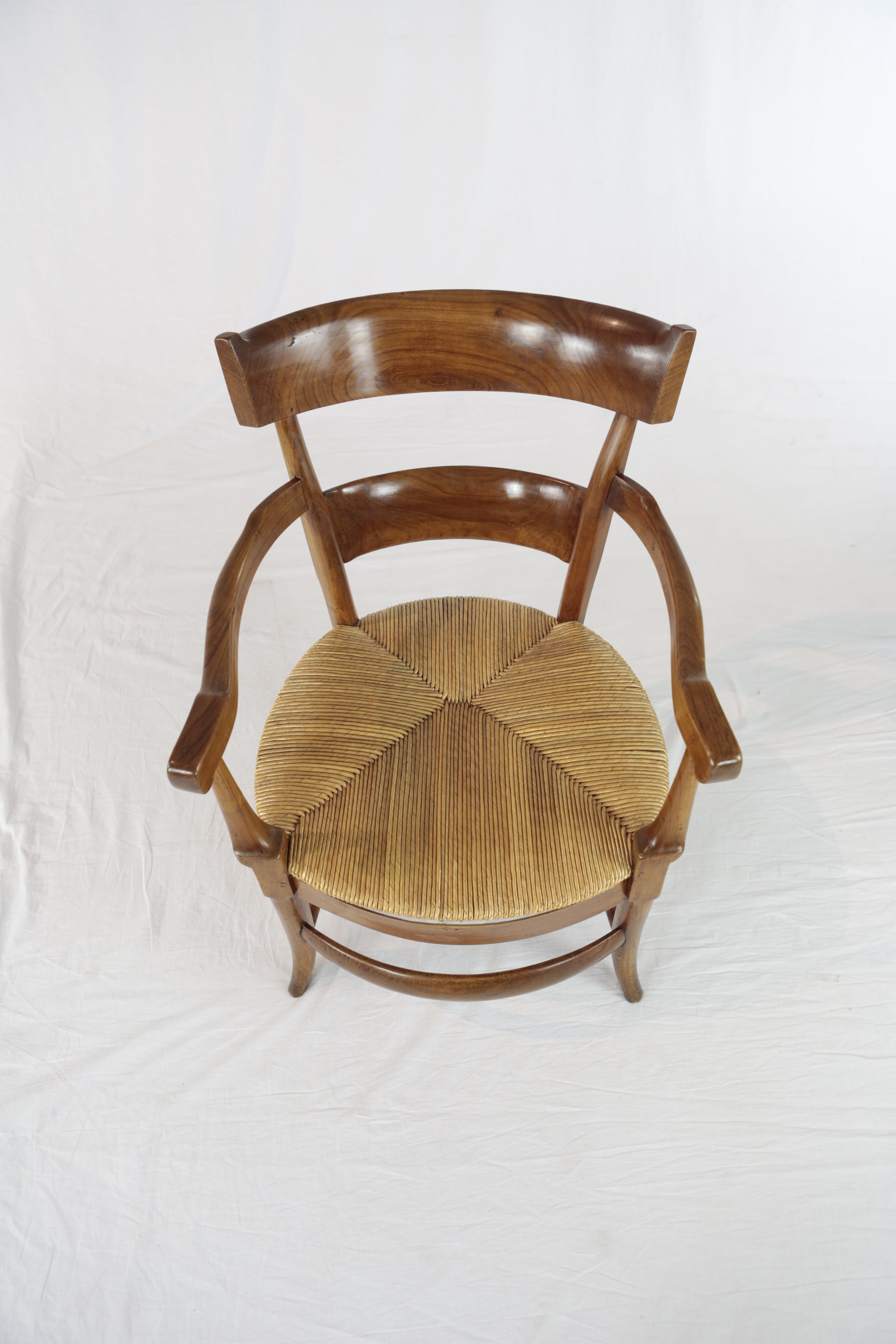 Comfortable armchair cherrywood 19th century for sale at 1stdibs