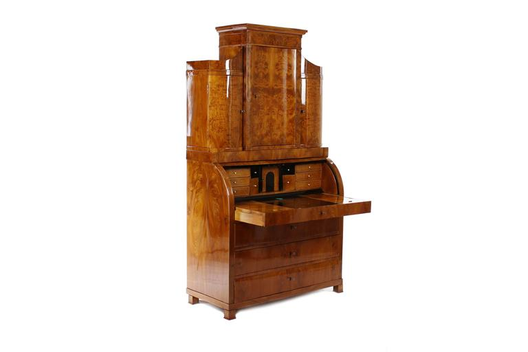 Representative biedermeier secretary northern germany for Furniture 1825