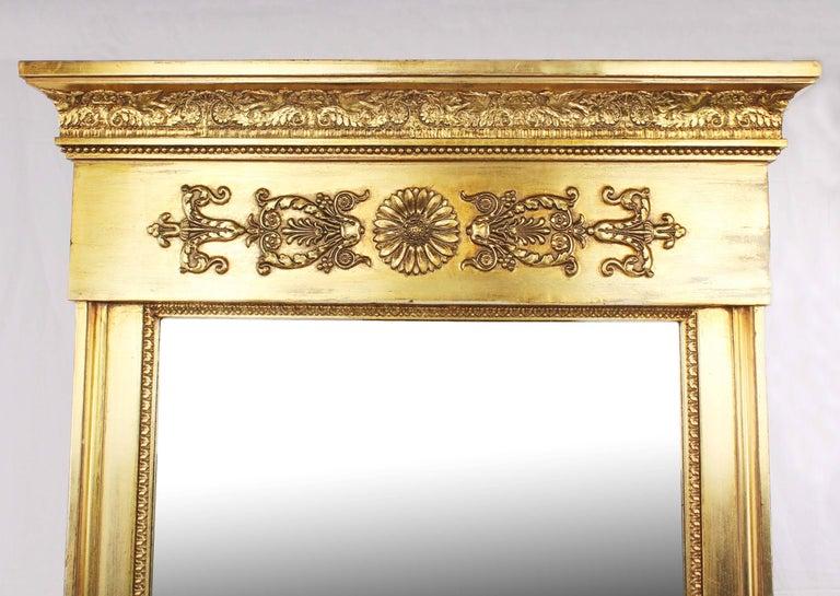 German 19th Century Pillar Mirror, Empire, Peter Schmuckert, circa 1800-1810 For Sale