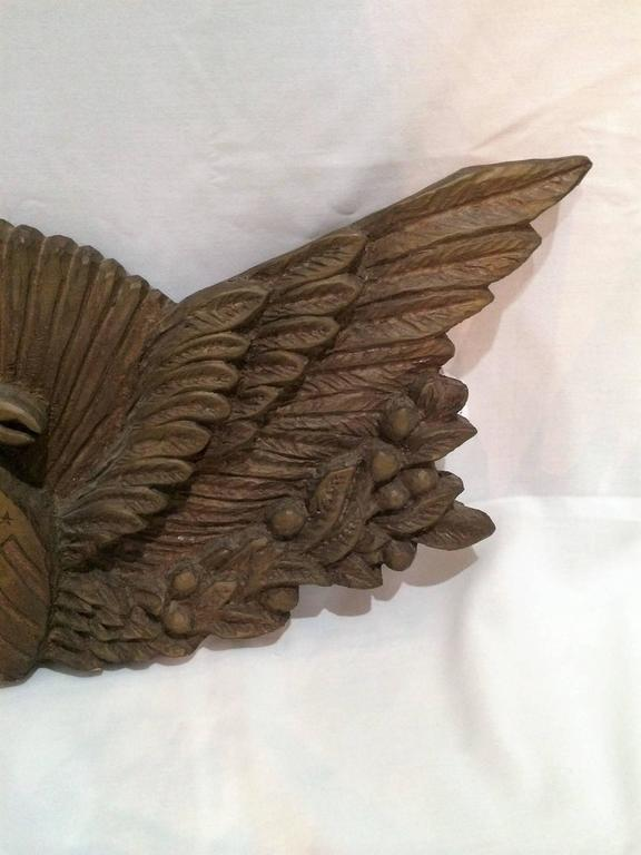 Fantastically Hand Carved 1950s Eagle Wall Mount With