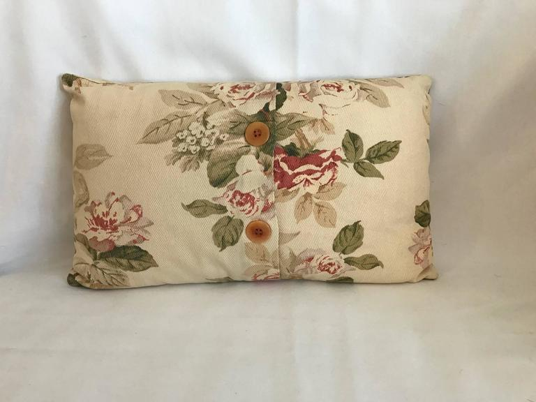 French Shabby Chic Pillows : Two Sweet Vintage French Floral Pillows, Shabby Chic French Country Estate at 1stdibs