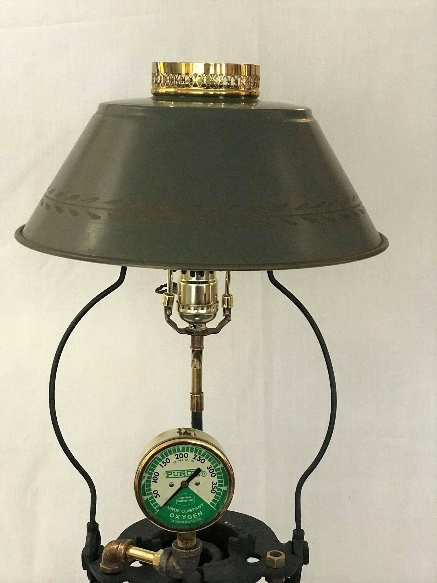 Sale man cave holiday gift sale lead melter lamp polished brass lead melter lamp polished brass oxygen gauge at 1stdibs aloadofball Choice Image