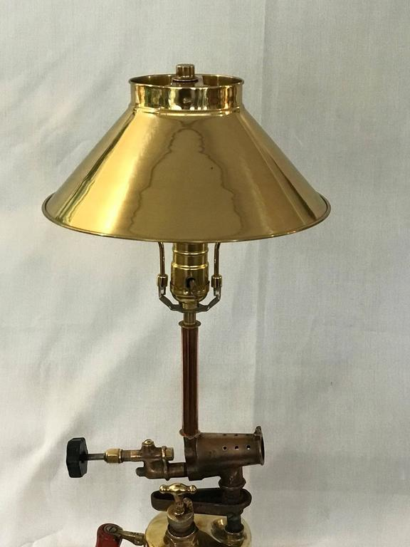 Parts Table Lamp : Sale man cave blow torch lamp conversion polished