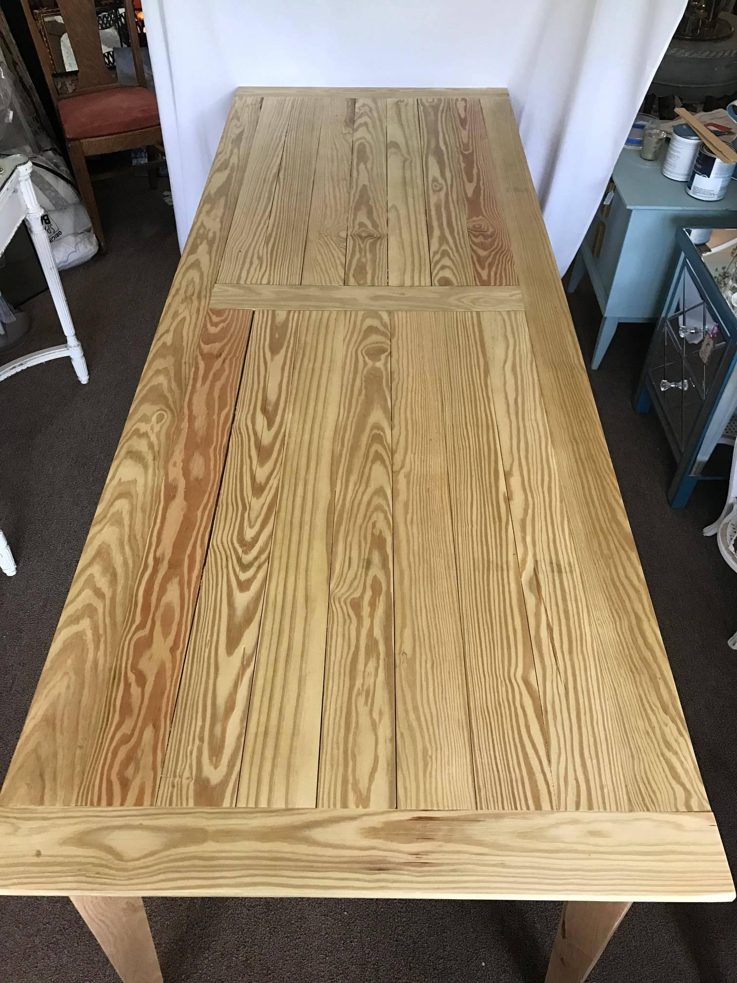 Charmant 8 Foot Farm Table Custom Handmade Treated Spar Grade Finish Table. Douglas  Fir