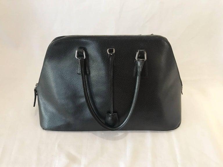 Black Beauty Prada Handbag With Key And Lock Authentic Leather Bag Really Great