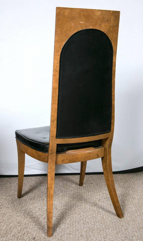 Eight Mastercraft Burl Wood and Black Vinyl Mid Century  : midcentury3z from www.1stdibs.com size 895 x 1500 jpeg 140kB