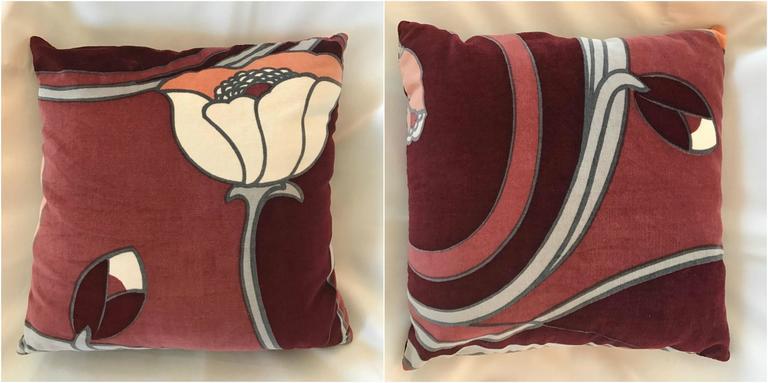 Modern Lotus Pillow : Set of Nine Mid-Century Modern Velvet Lotus Flower Pillows at 1stdibs