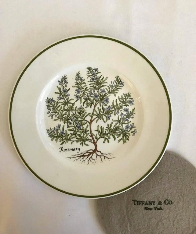 Tiffany And Co Set Of Four Quot Herbs Quot Plates Made In