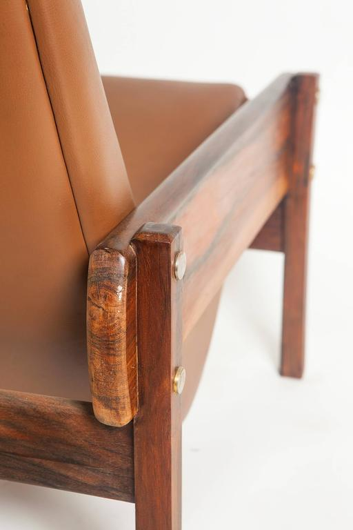 Vronka armchair by sergio rodrigues in jacaranda wood for 7 furniture doral fl