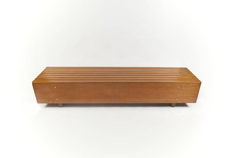 Bench in Peroba Wood by Sergio Rodrigues, Brazil 1970s 2