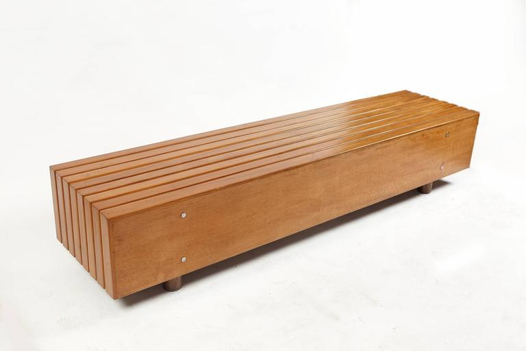 Bench in Peroba Wood by Sergio Rodrigues, Brazil 1970s 3