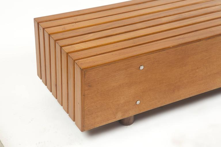 Bench in Peroba Wood by Sergio Rodrigues, Brazil 1970s 5