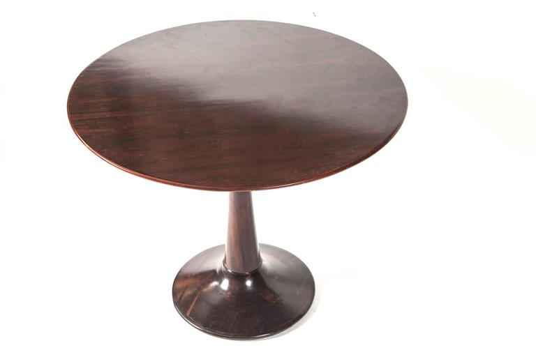 Mid century brazilian round table in jacarand wood circa for 7 furniture doral fl