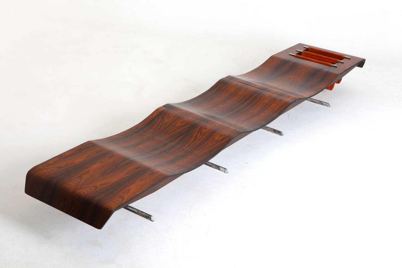 Onda bench with magazine rack for sale at 1stdibs for 7 furniture doral fl