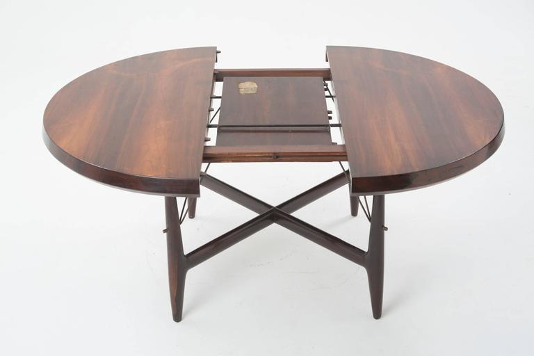 Sergio Rodrigues Mid Century Dining Table In Brazilian Jacarandá Wood ,  1955 3