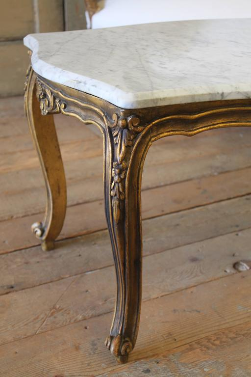 Antique Giltwood Marble Top Coffee Table For Sale At 1stdibs