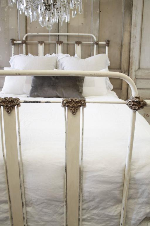 19th Century Antique Iron Farmhouse Bed Full Size At 1stdibs