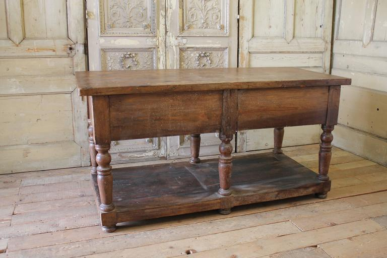 19th century antique french drapers table with drawers for for 19th century french cuisine