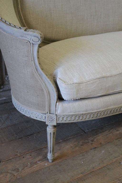 19th century antique louis xvi style canape settee for for Canape for sale