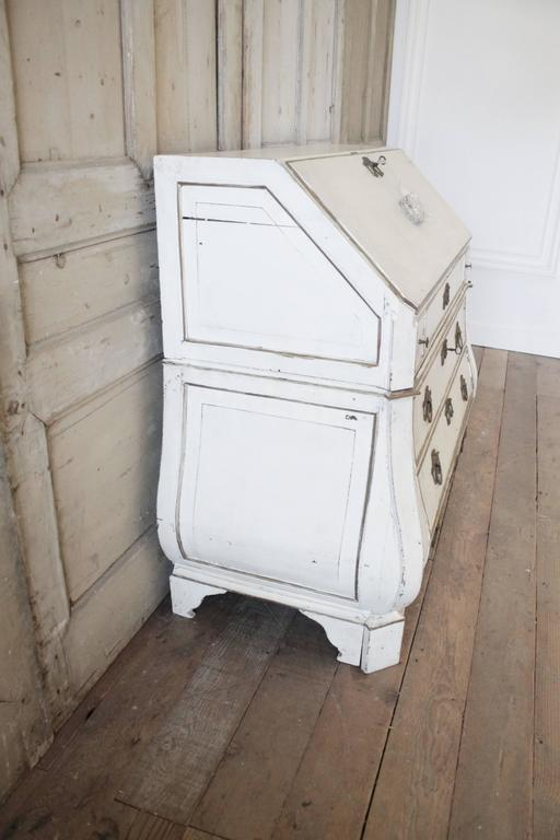 19th Century Painted Dutch Secretaire With Keys For Sale